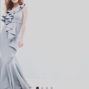 Asos one shoulder ruffle dress